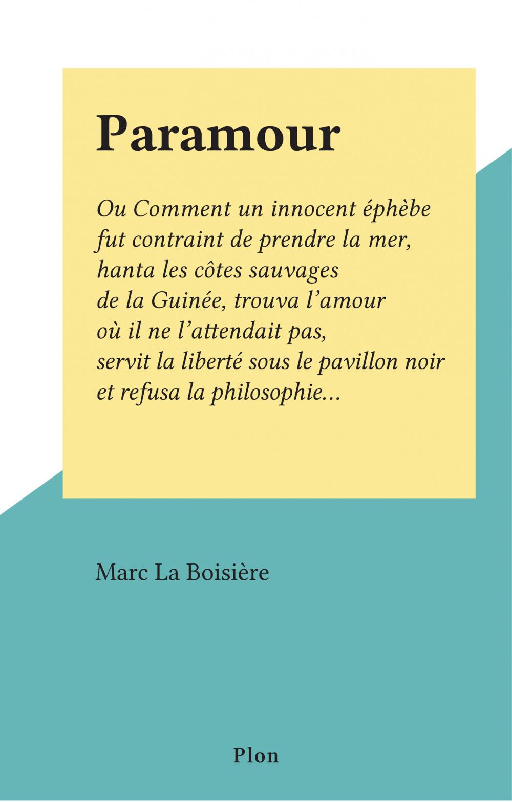 Paramour  - Marc La Boisière