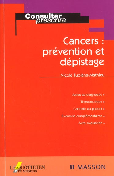 Cancers ; Prevention Et Depistage