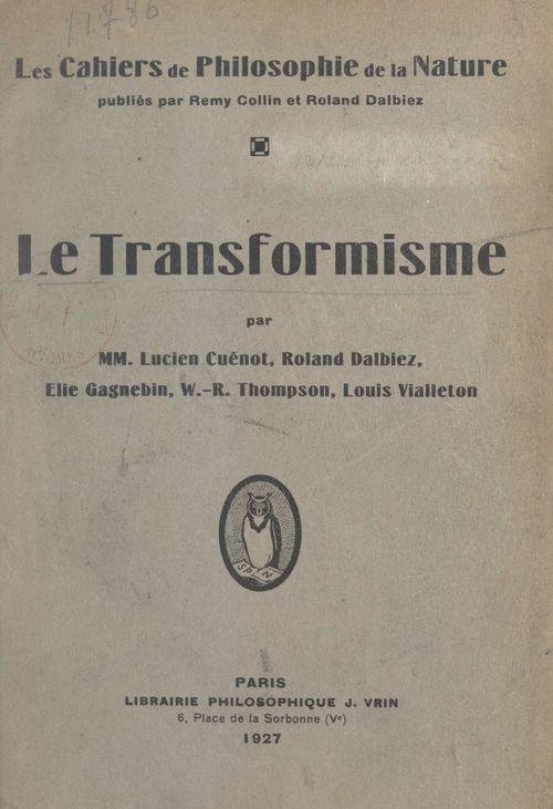 Le transformisme