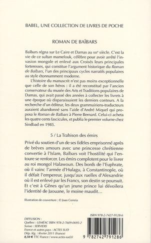 Roman de Baïbars t.5 ; la trahison des émirs