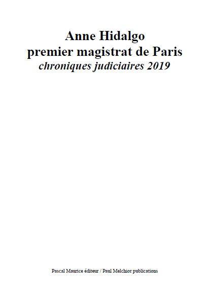 Anne Hidalgo premier magistrat de Paris