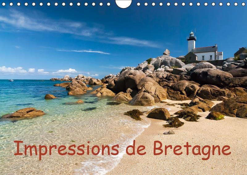 Impressions de bretagne (calendrier mural 2019 din a4 horizontal) - la bretagne, le pays entoure par