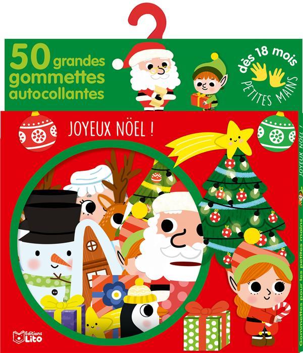 Gommettes pour les petites mains ; joyeux Noël ! 50 grandes gommettes autocollantes