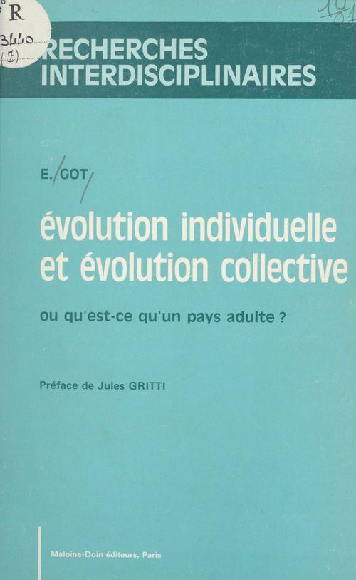 Évolution individuelle et évolution collective