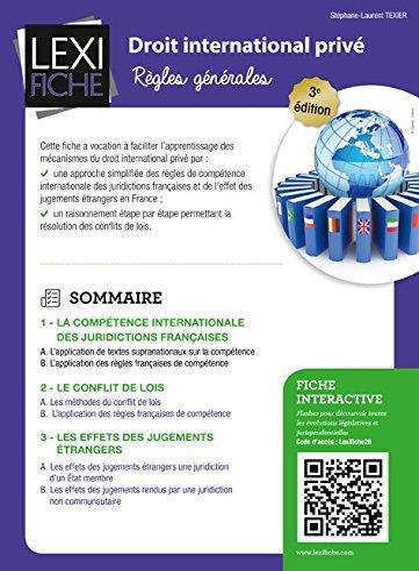 Droit International Prive ; Regles Generales (3e Edition)
