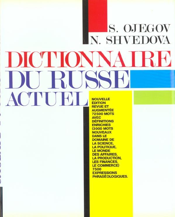 Dictionnaire du russe actuel
