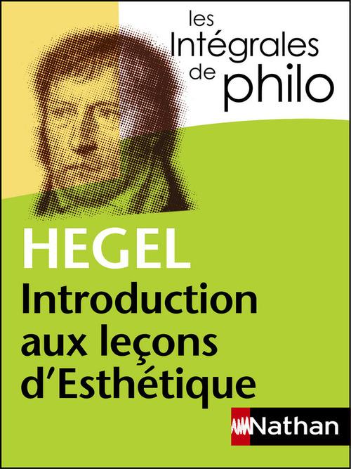 Hegel ; introduction aux leçons d'esthétique