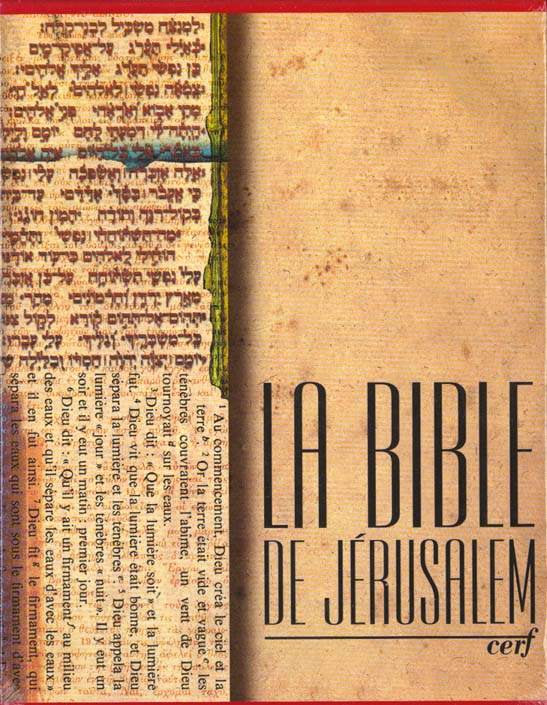 La Bible De Jerusalem Major Toile Rouge