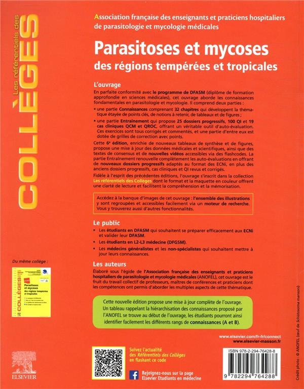 Parasitoses et mycoses ; des régions tempérées et tropicales ; réussir les ECNi