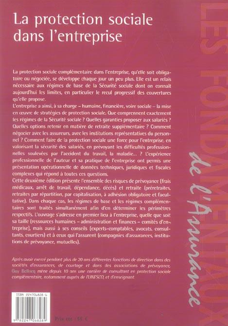 la protection sociale dans l'entreprise (2e edition) (2e édition)