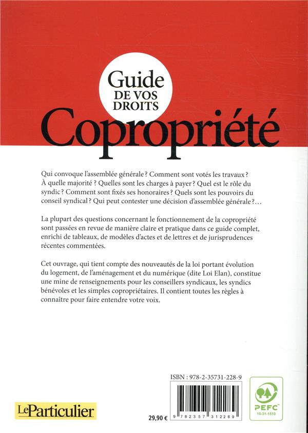 guide de vos droits ; copropriété (édition 2019)