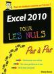 EXCEL 2010 PAS A PAS POUR LES NULS