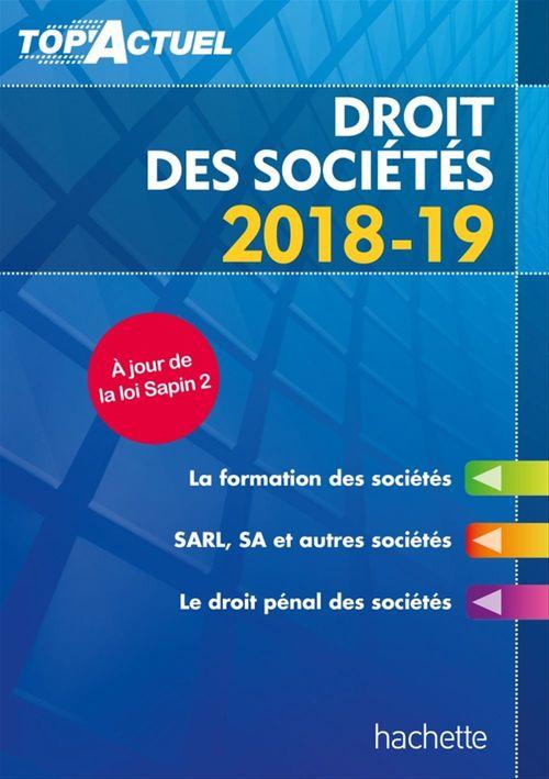 Top'actuel ; droit des sociétés (édition 2018/2019)