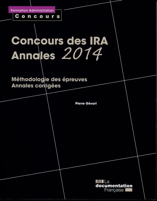 Concours des IRA ; annales 2014