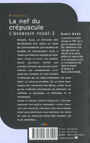 L'assassin royal T.3 ; la nef du crépuscule