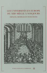 Vente Livre Numérique : Les universités en Europe du XIIIe siècle à nos jours  - Jean Garrigues - Frédéric Attal - Thierry Kouamé - Jean-Pierre Vittu