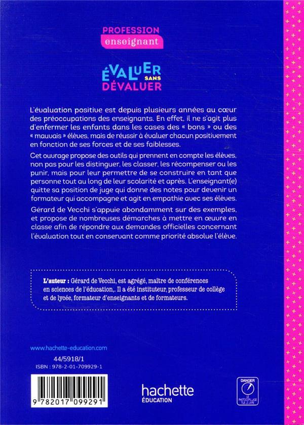 évaluer sans dévaluer ; mettre en oeuvre une évaluation positive en classe (édition 2020)
