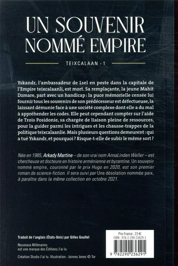 Teixcalaan t.1 : un souvenir nommé empire