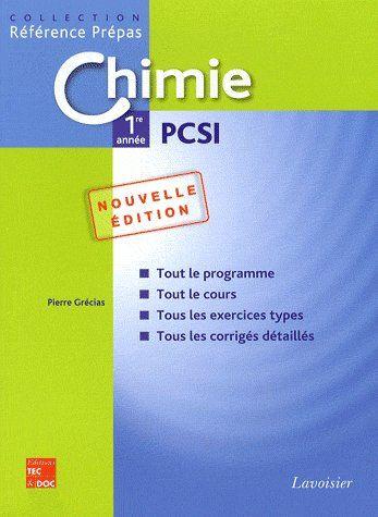 chimie ; 1ère année pcsi (2e édition)