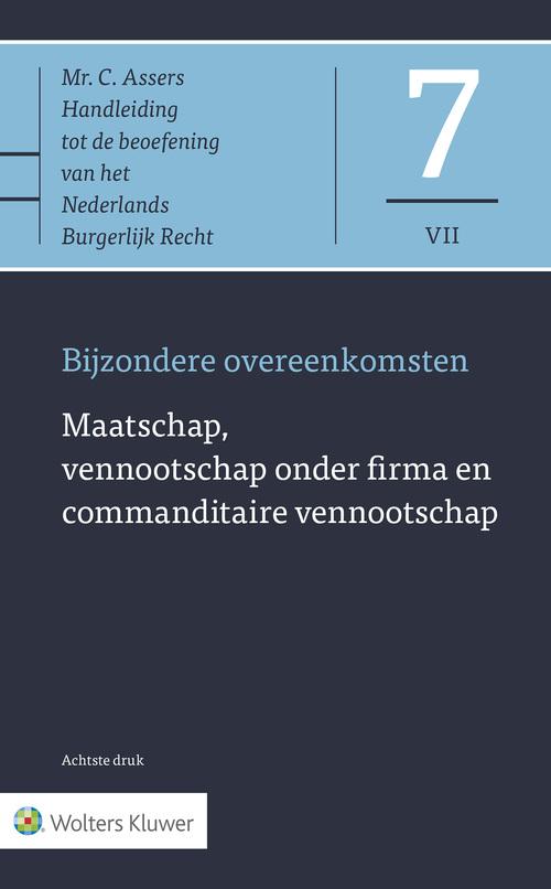 7. Maatschap, vennootschap onder firma en commanditaire vennootschap