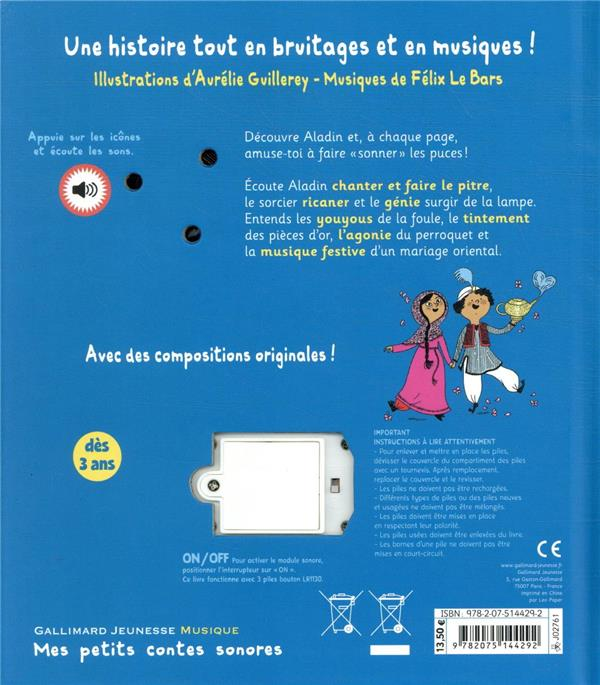 Aladin ; 16 animations musicales