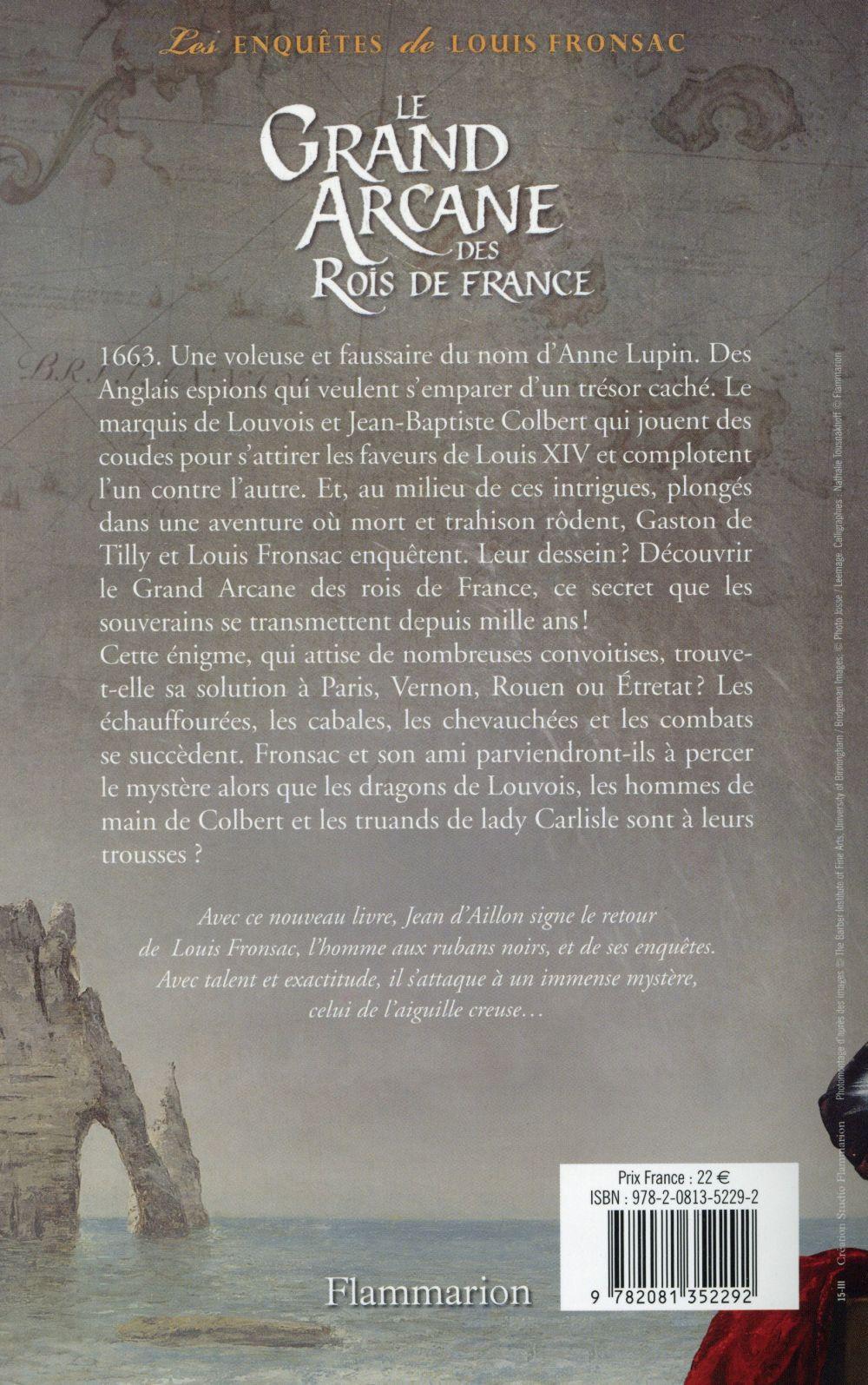 Les enquêtes de Louis Fronsac T.16 ; le grand arcane des rois de France