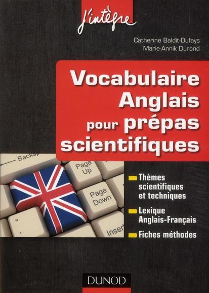 Vocabulaire Anglais Pour Les Prepas Scientifiques