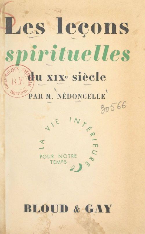 Les leçons spirituelles du XIXe siècle