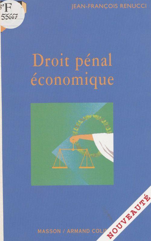 Droit penal economique