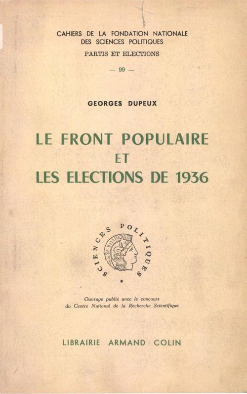 Le Front populaire et les élections de 1936