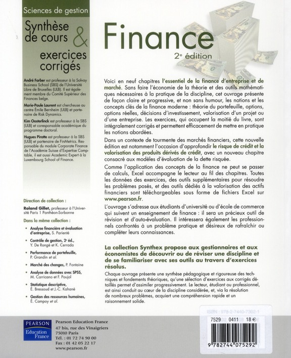 SYNTHEX ; finance (2e édition)