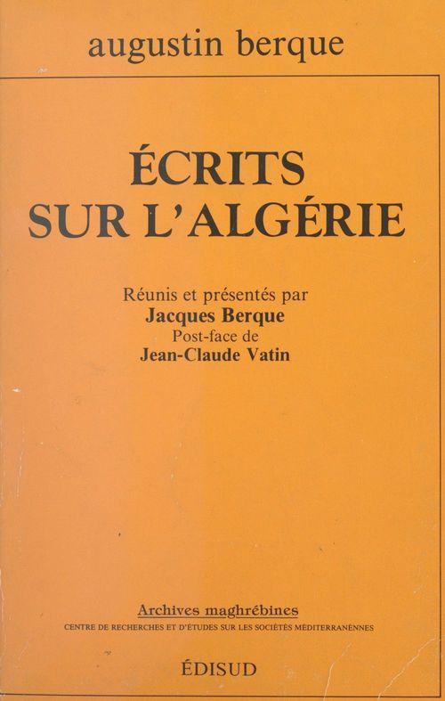 Écrits sur l'Algérie
