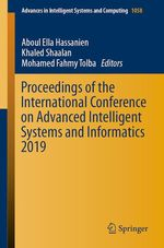 Proceedings of the International Conference on Advanced Intelligent Systems and Informatics 2019  - Mohamed Fahmy Tolba - Aboul Ella Hassanien - Khaled Shaalan