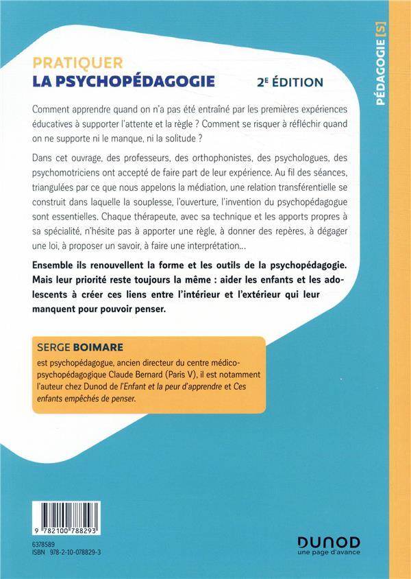 Pratiquer la psychopédagogie ; médiation, groupes et apprentissage (2e édition)