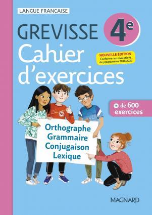 Grevisse langue française ; 4e ; cahier d'exercices