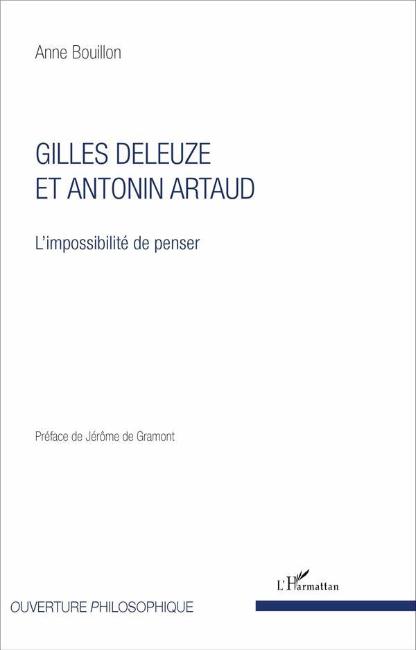 Gilles Deleuze et Antonin Artaud ; l'impossibilité de penser
