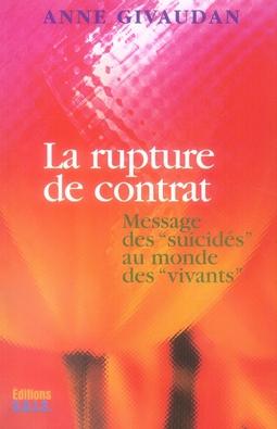 La rupture de contrat ; messages des