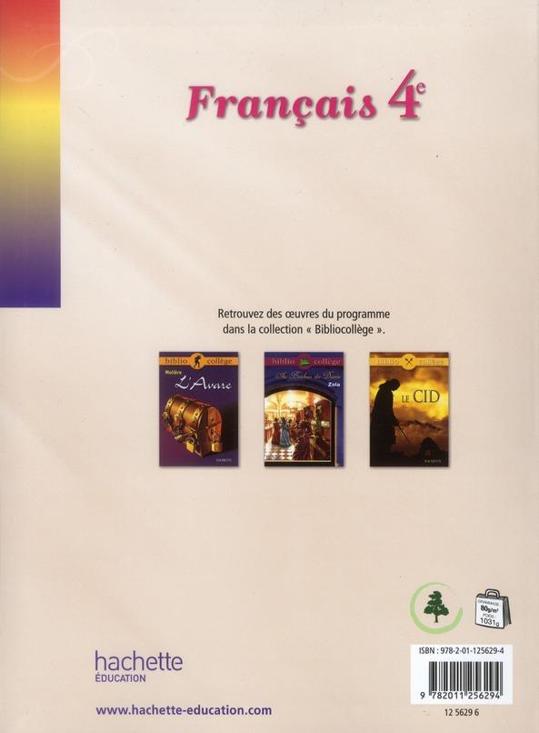 Fleurs D Encre Francais 4eme Livre De L Eleve Edition 2011 C Bertagnac F Carrier Hachette Education Grand Format Colbert Mont St