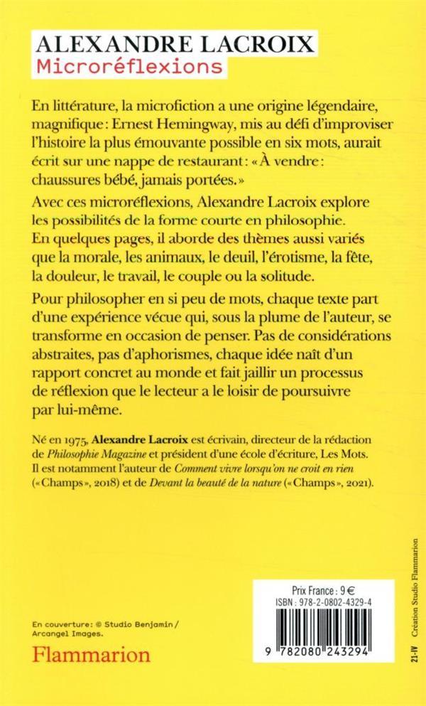 Microréflexions ; 70 invitations à philosopher