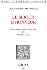 Vente Livre Numérique : Le Séjour d'honneur  - Frédéric Duval - Octovien de Saint-Gelais