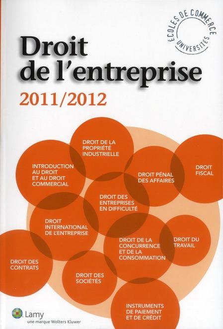 Droit De L'Entreprise ; 2011-2012