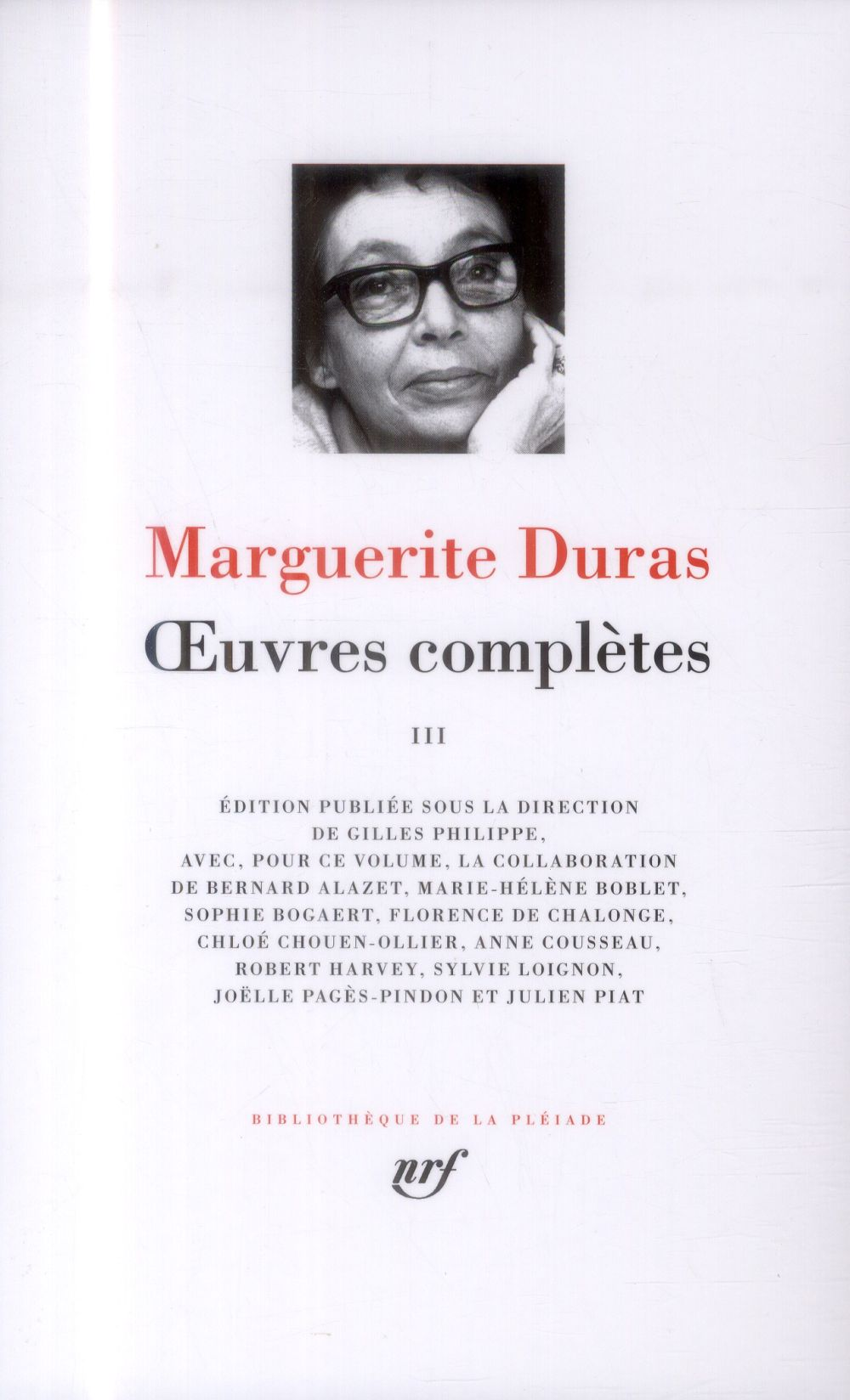 Duras Marguerite - OEUVRES COMPLETES (TOME 3)