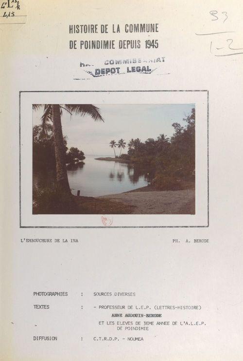 Histoire de la commune de Poindimié depuis 1945