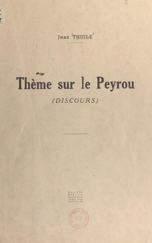 Un thème sur le Peyrou