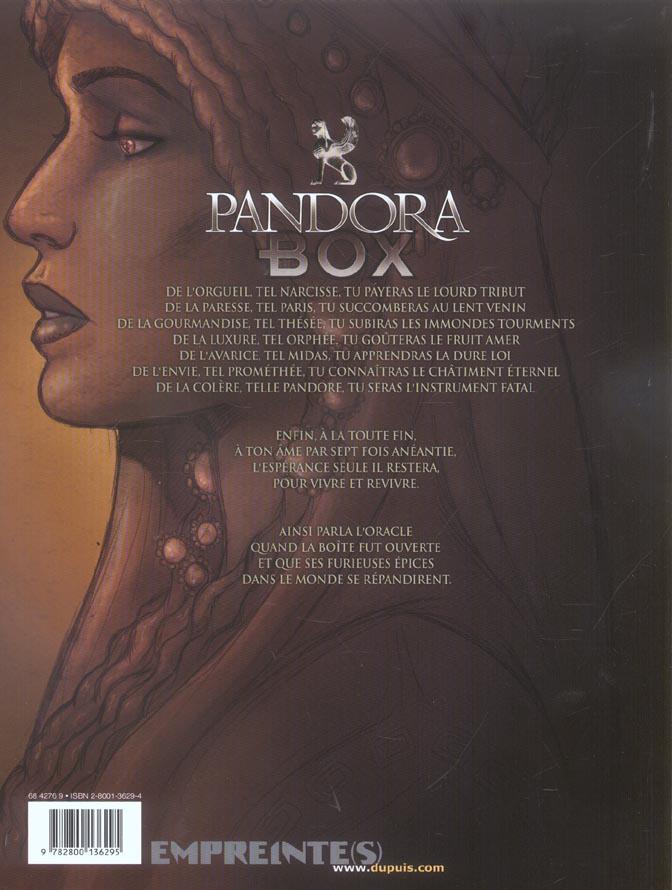 Pandora box T.4 ; la luxure