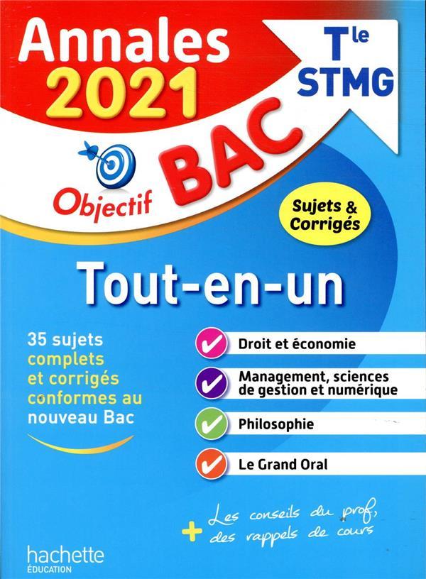 annales bac ; sujets et corrigés ; tout-en-un ;terminale, bac STMG (édition 2021)