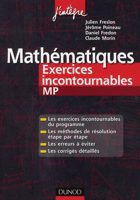 Mathematiques ; Mp ; Exercices Incontournables