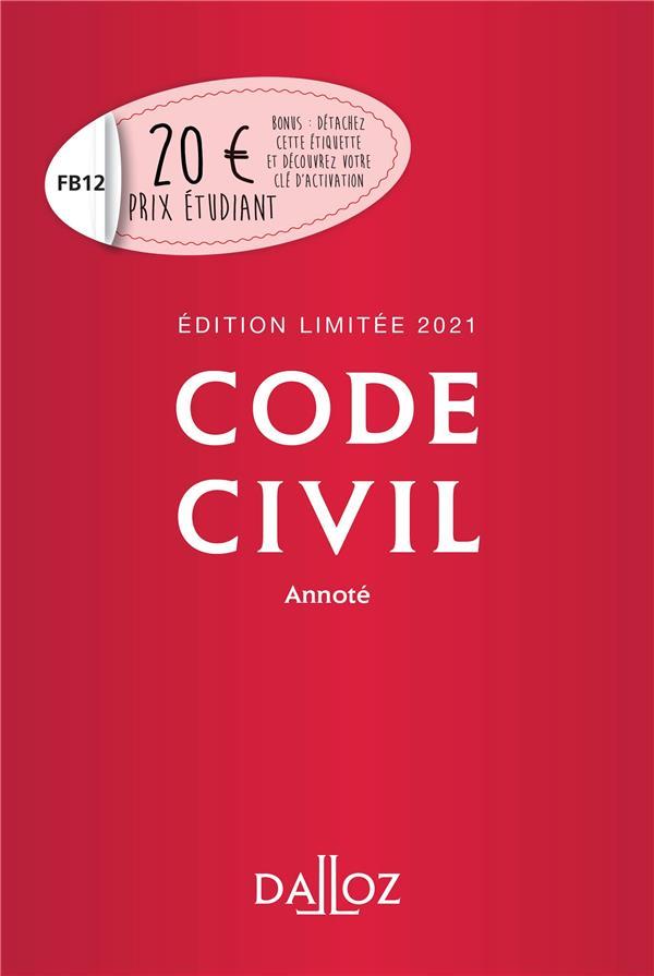 Code civil annoté (édition limitée 2021)
