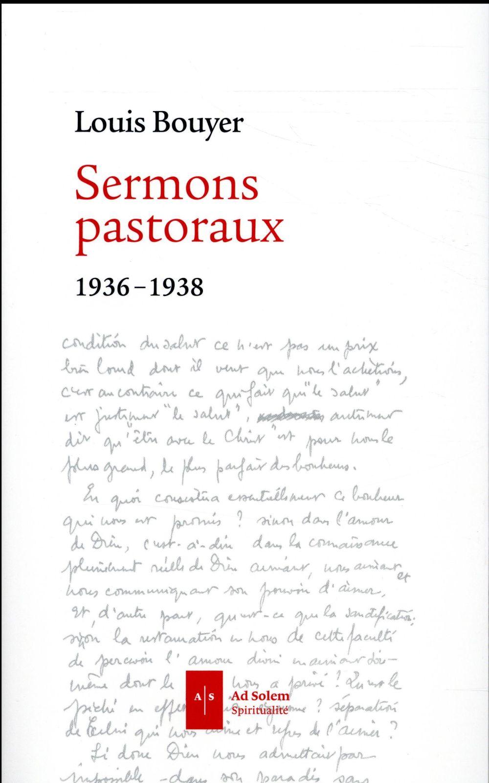 Sermons pastoraux ; 1936-1938