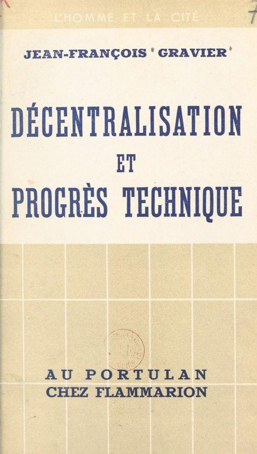 Décentralisation et progrès technique